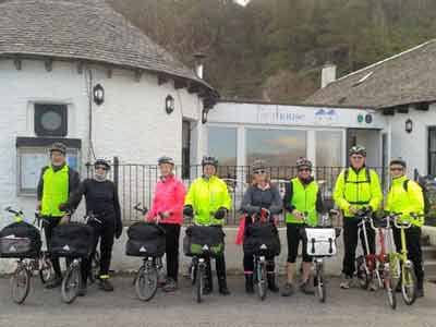 Pierhouse guests touring with their folding Brompton bicycles from Ayrshire