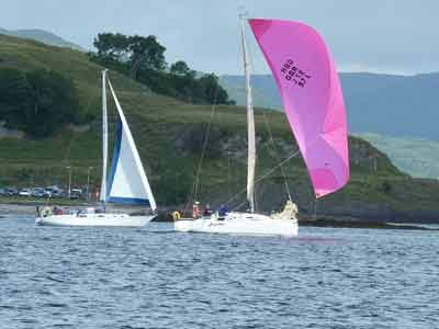 West Highland Yachting Week race around Lismore passes right by the front door of The Pierhouse