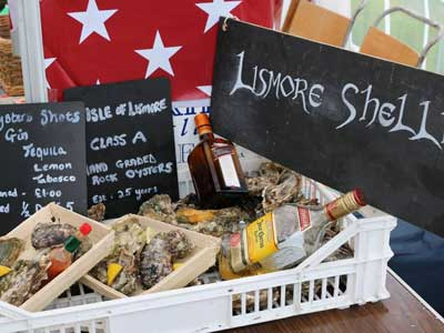 A variety of Lismore oysters at The Lismore Agricultural Show in July