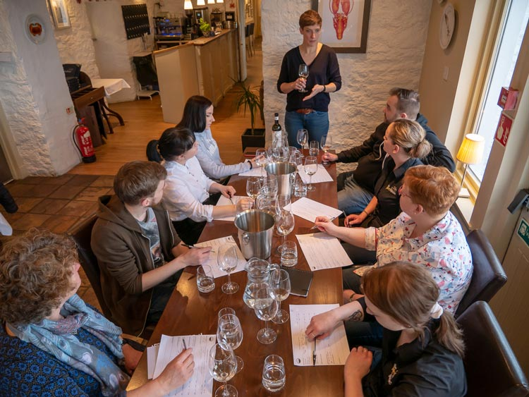 The Pierhouse team wine training session
