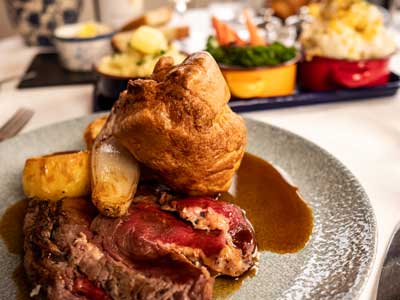 A delicious Sunday Roast Lunch at The Pierhouse