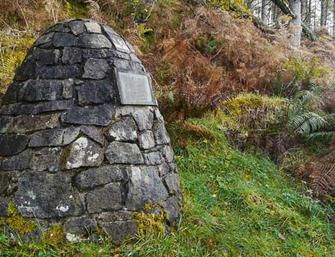 Cairn marking the Appin Murder