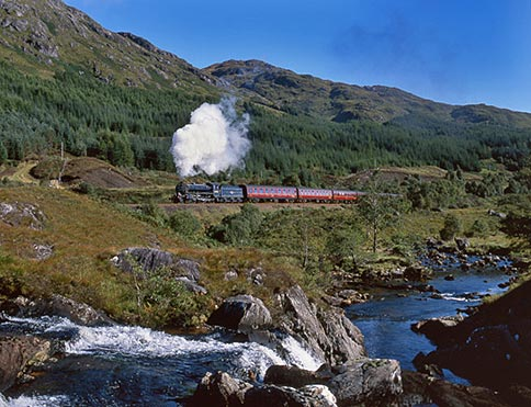 Jacobite steam train, image courtesy West Coast Railways