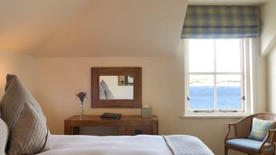 Sea view room at The Pierhouse Hotel & Seafood Restaurant