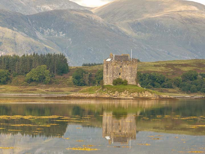 Castle Stalker - an easy walk from The Pierhouse Hotel