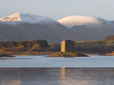 Winter view of Castle Stalker