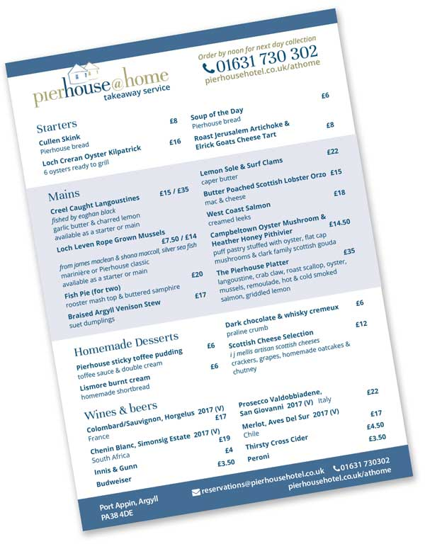 Click to download the pierhouse@home takeaway menu