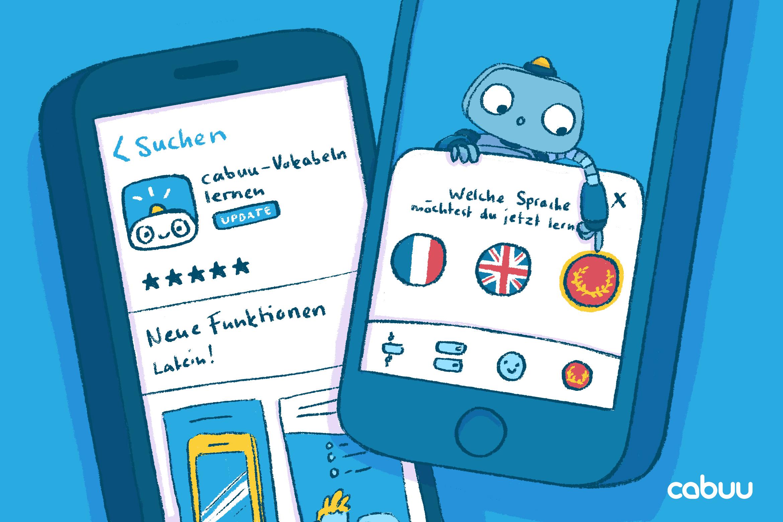 Illustration von der cabuu App im Appstore