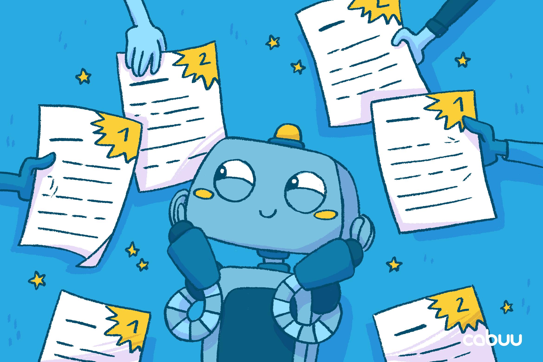 Nutzer zeigen Roboter Bo ihre guten Noten