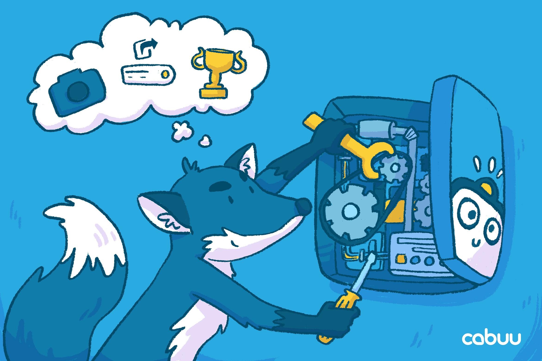 Ein Fuchs werkelt an unserer App