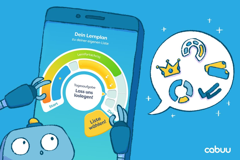 Neuer Lernplan in der cabuu App