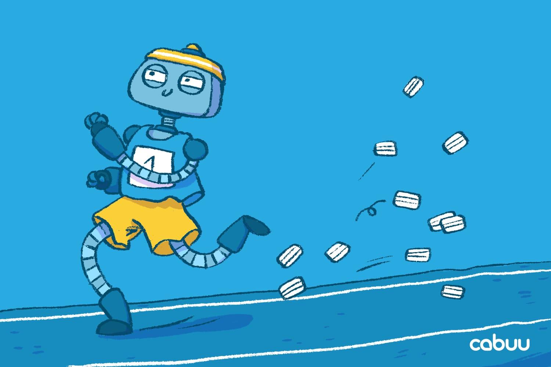 Roboter Bo sprintet