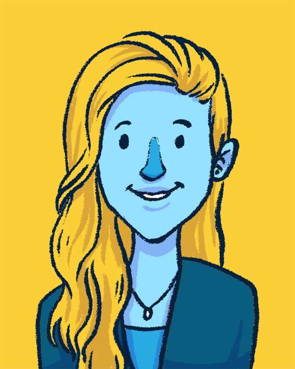 Portrait Illustration von Mariella Ruck