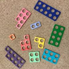 Numicon pieces laid out