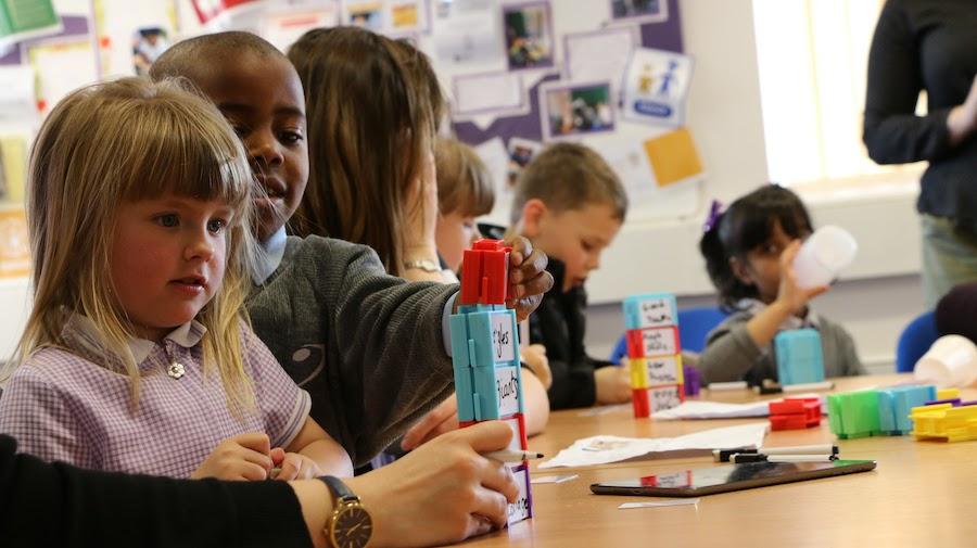 Children engaged in dialogic pedagogy