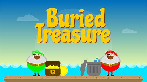 Buried Treasure game on Phonicsplay