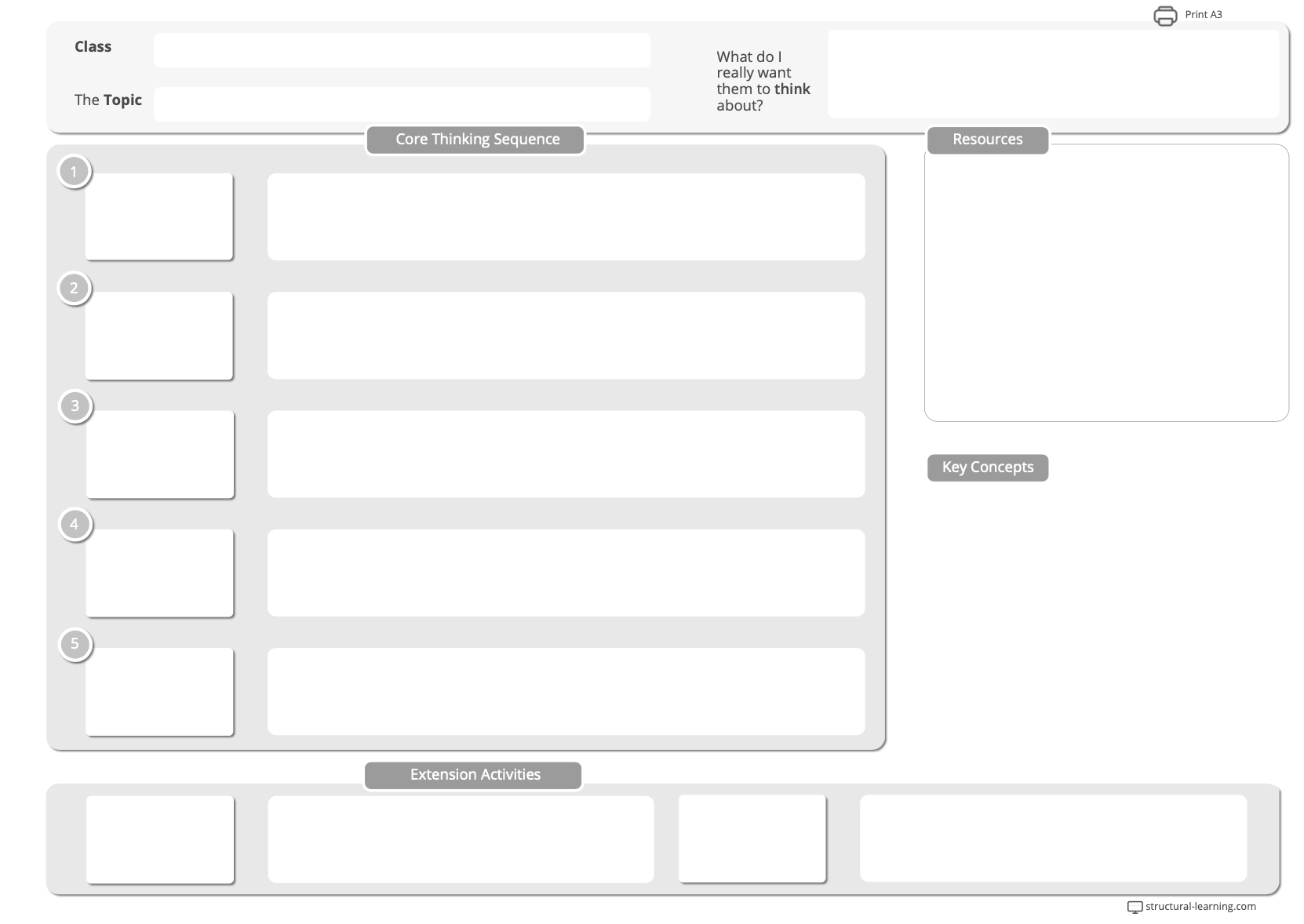 A simple lesson plan template