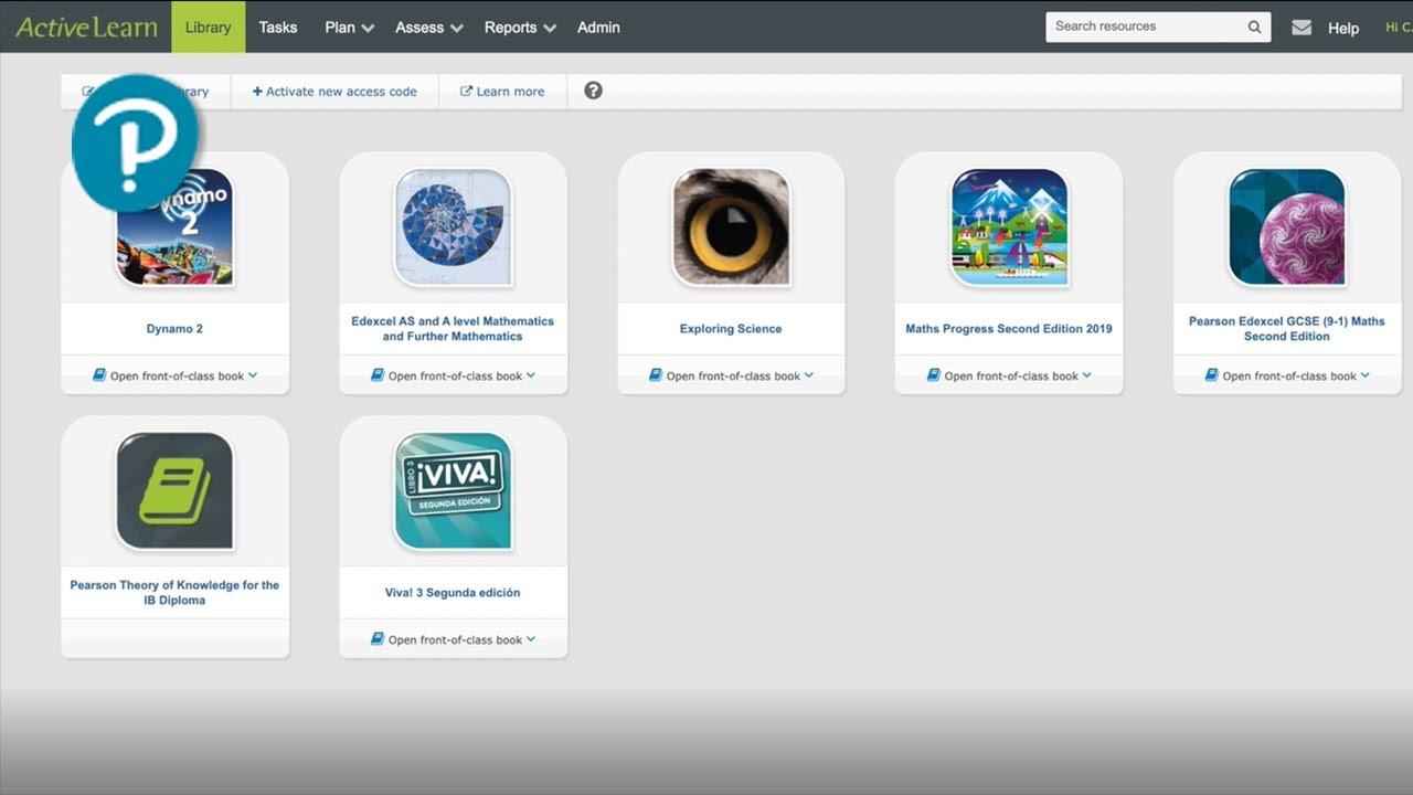 Active learn screenshot