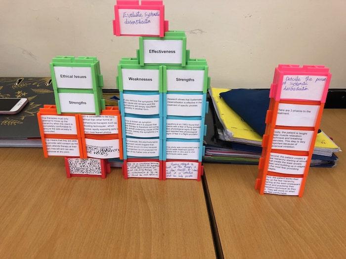 Scaffolding Learning Tasks using Writer's Block