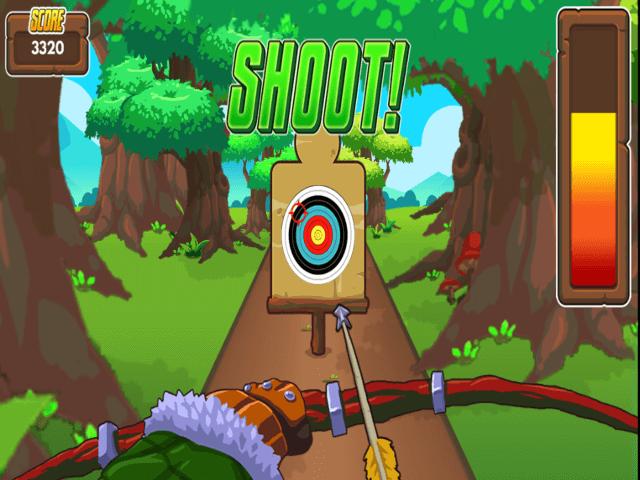 Mathsframe archery game