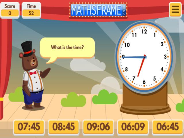 Mathsframe time games