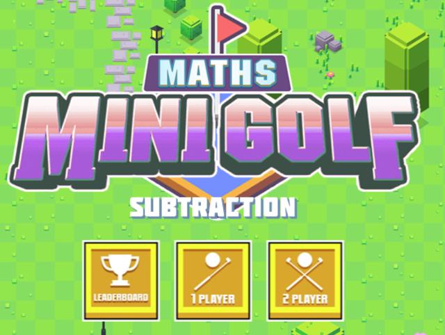 Mathsframe Golf game