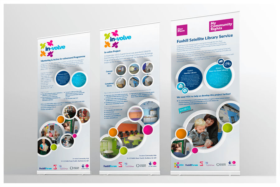 Photo of In-Volve pull-up roller banner stands by Connect Creative Design in Barnsley