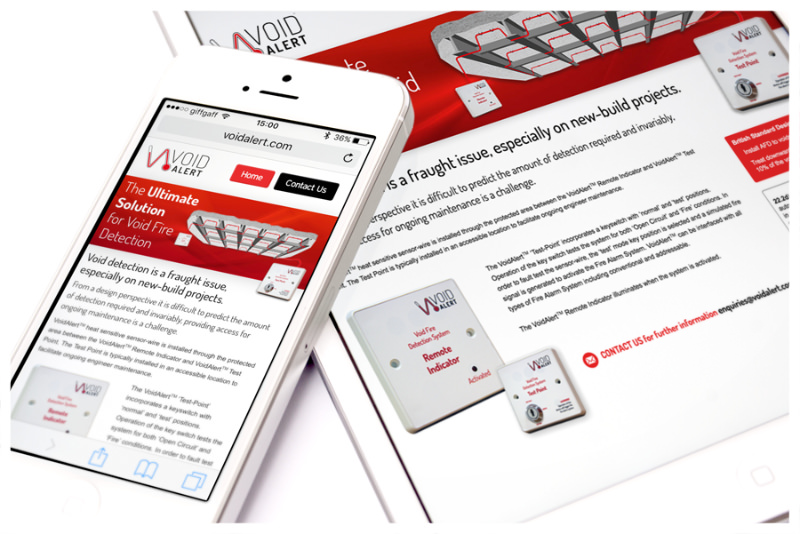 Photo of VoidAlert mobile website by Connect Creative Design in Barnsley