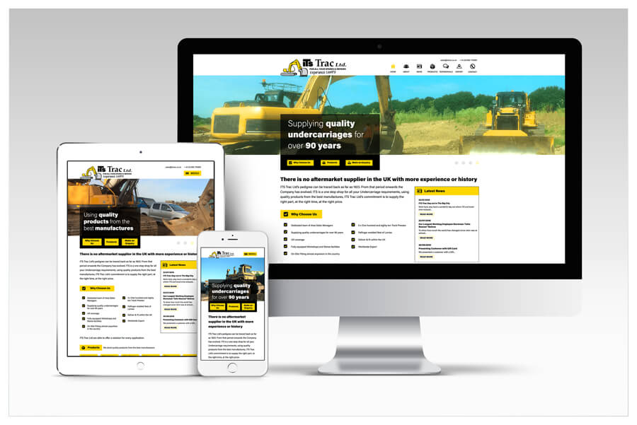 Photo of ITS Trac website designed by Connect Creative Design