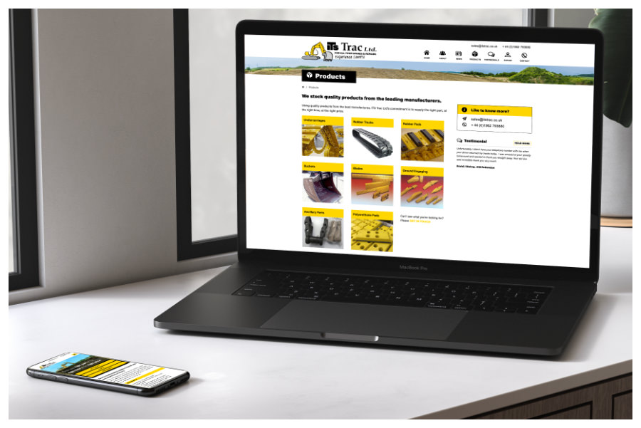 Photo of ITS Trac website on a laptop designed by Connect Creative Design