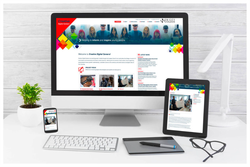 Photo of Creative Digital Careers website, designed by Connect Creative Design