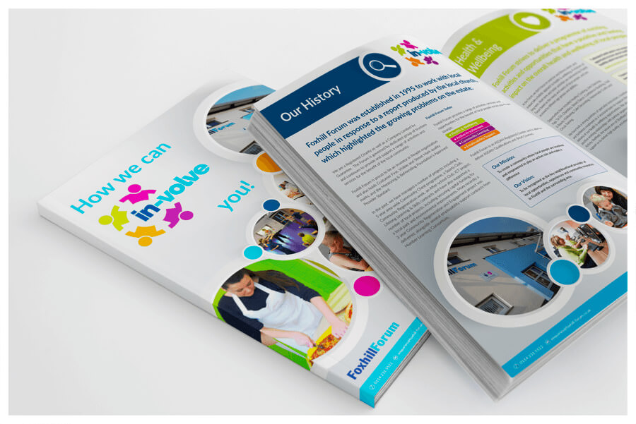 Photo of In-Volve services brochure by Connect Creative Design in Barnsley