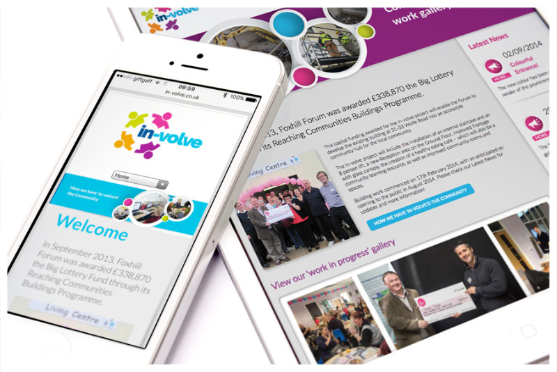 Photo of In-Volve mobile website by Connect Creative Design in Barnsley