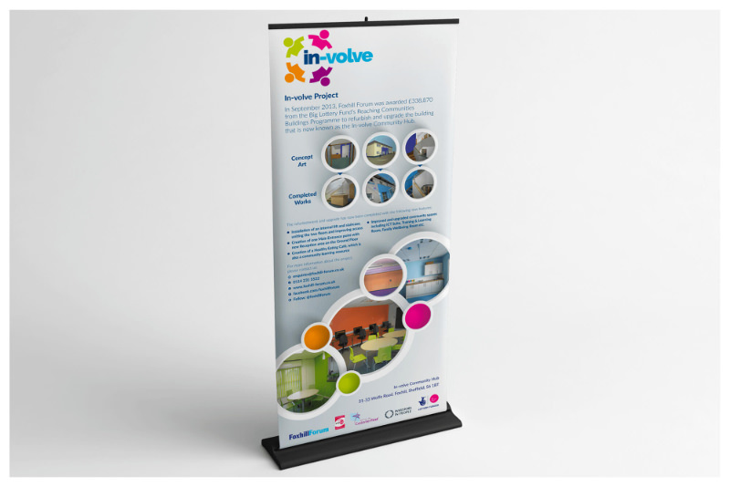 Photo of a pull up roller banner stand South Yorkshire designed by Connect Creative Design