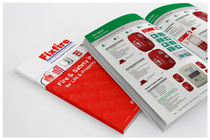 Photo of a Fixfire product catalogue designed by Connect Creative