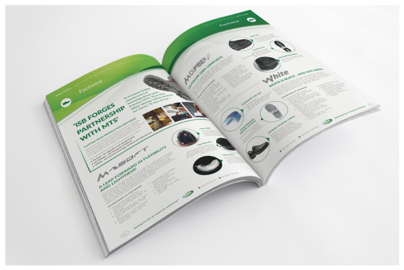 Photo of a printed brochure design open