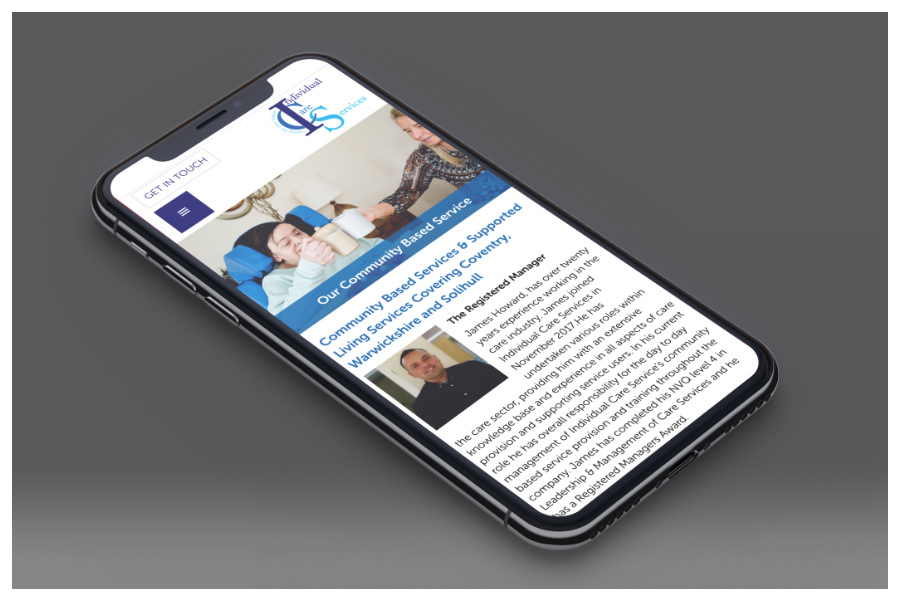 Individual Care Services mobile website