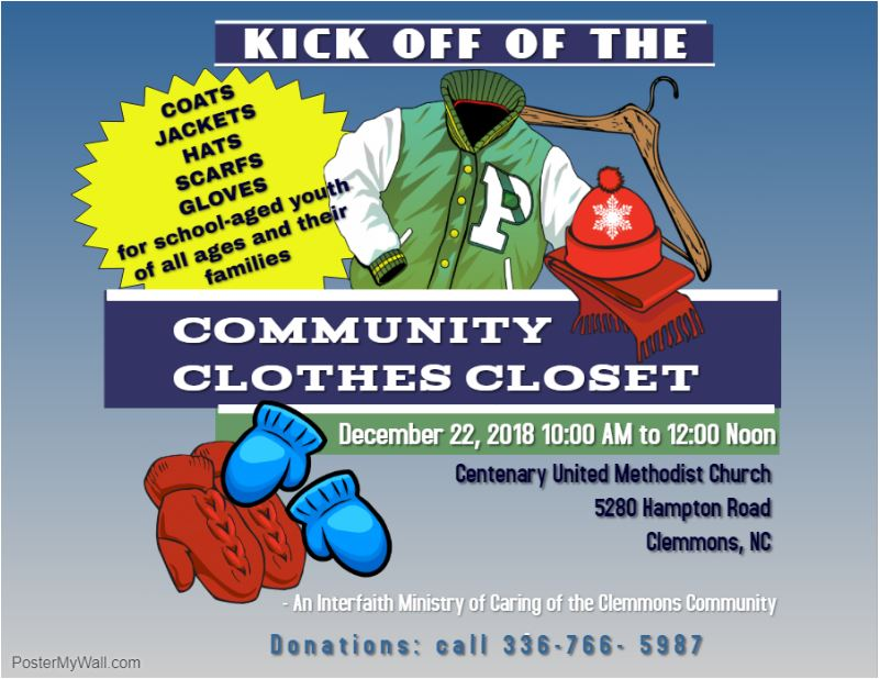 Clemmons Community Clothing Kick Off