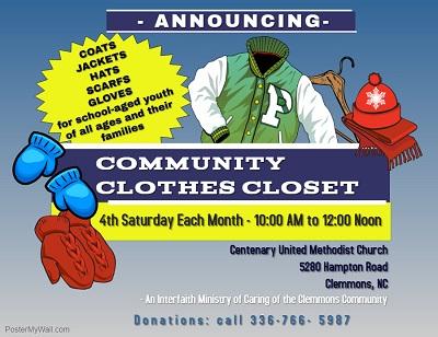 Clemmons Community Clothing Kick Off