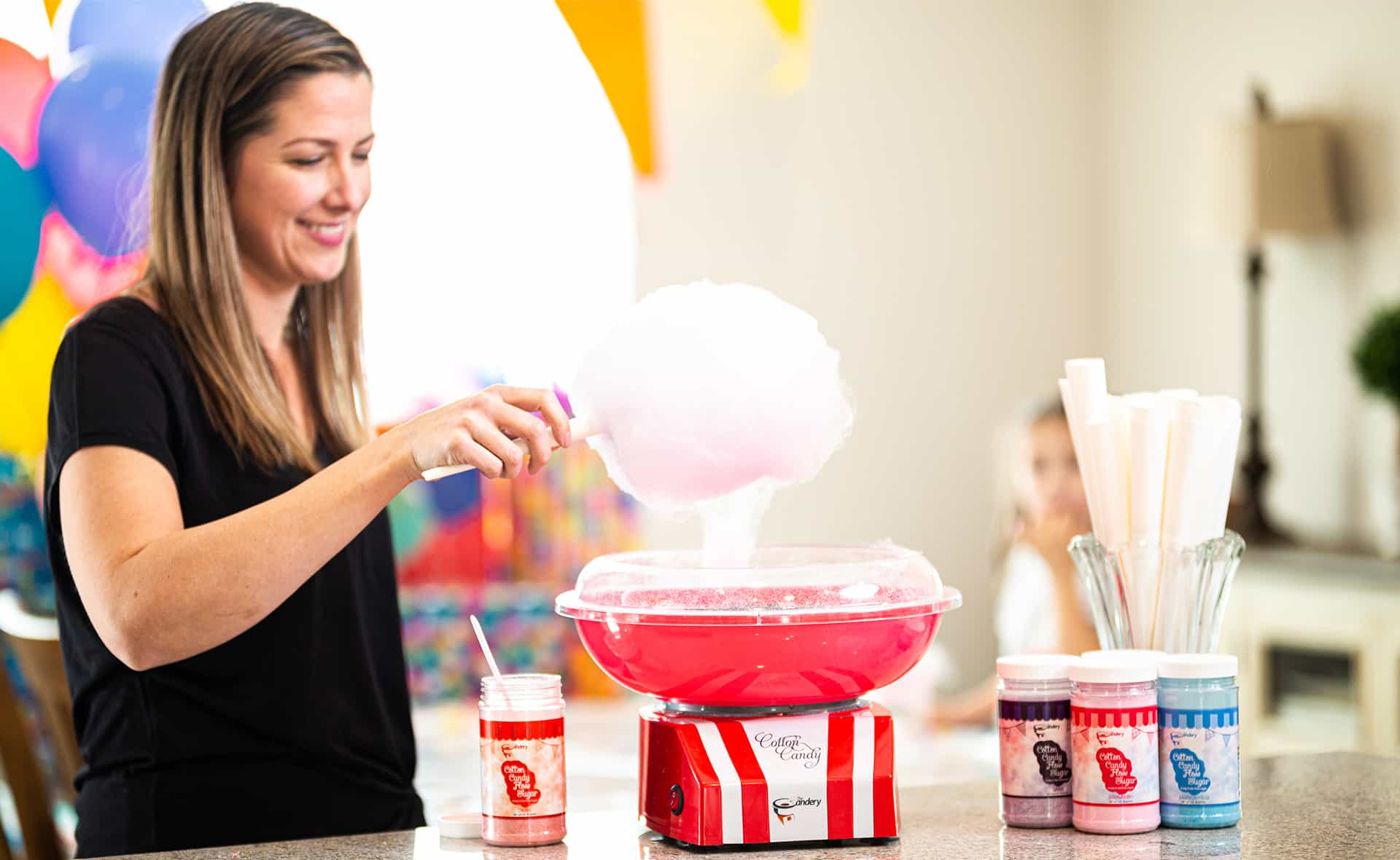 Kids Cotton Candy Machine Product Photo with Male Model by Results Imagery