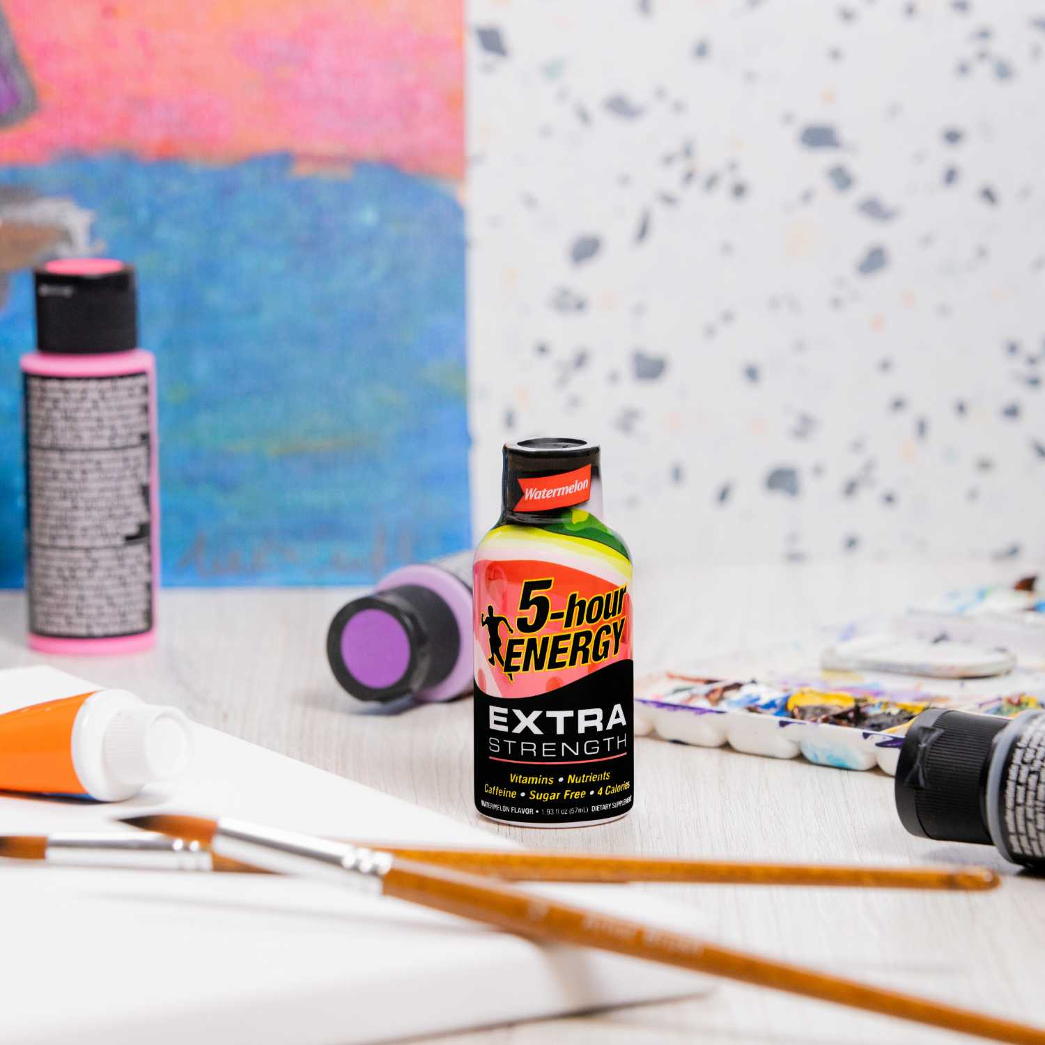 Creative In-Studio Energy Drink Product Photography