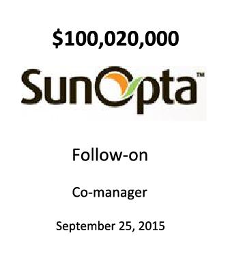 SunOpta, Inc.