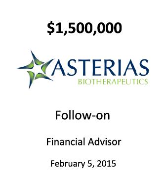 Asterias Biotherapeutics, Inc.