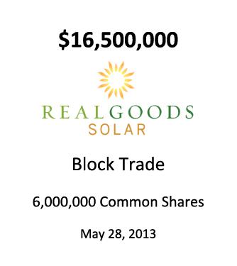 Real Goods Solar Inc.