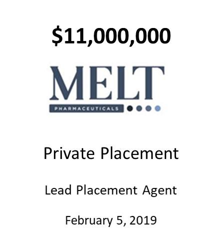 Melt Pharmaceuticals, Inc.