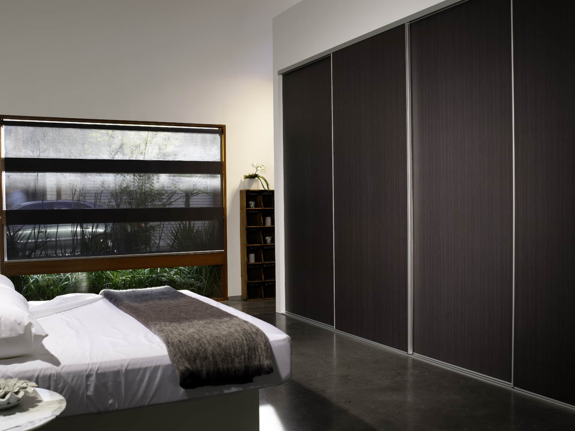 Oak infill bedroom wardrobe doors