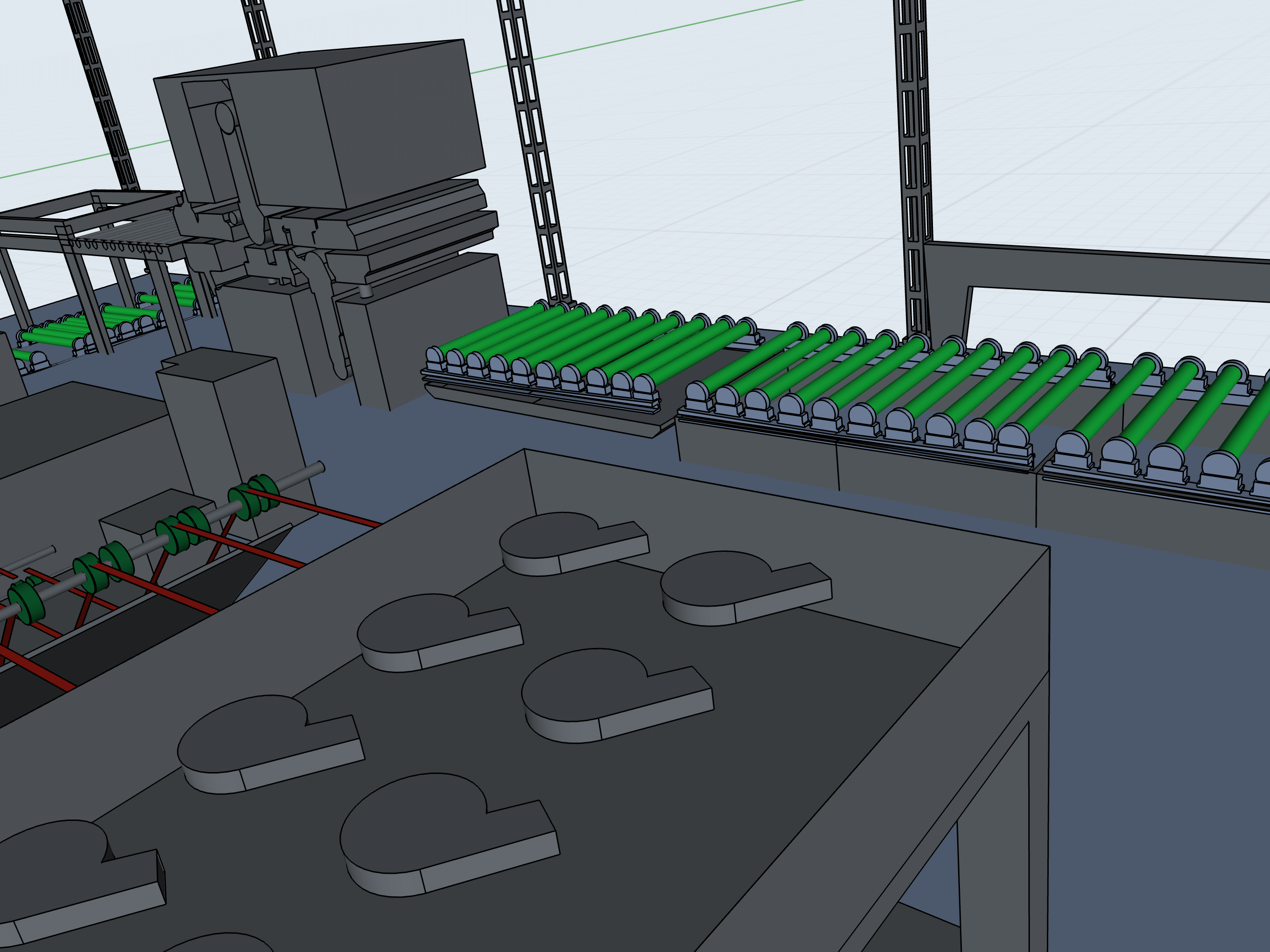 production plant layout3d model
