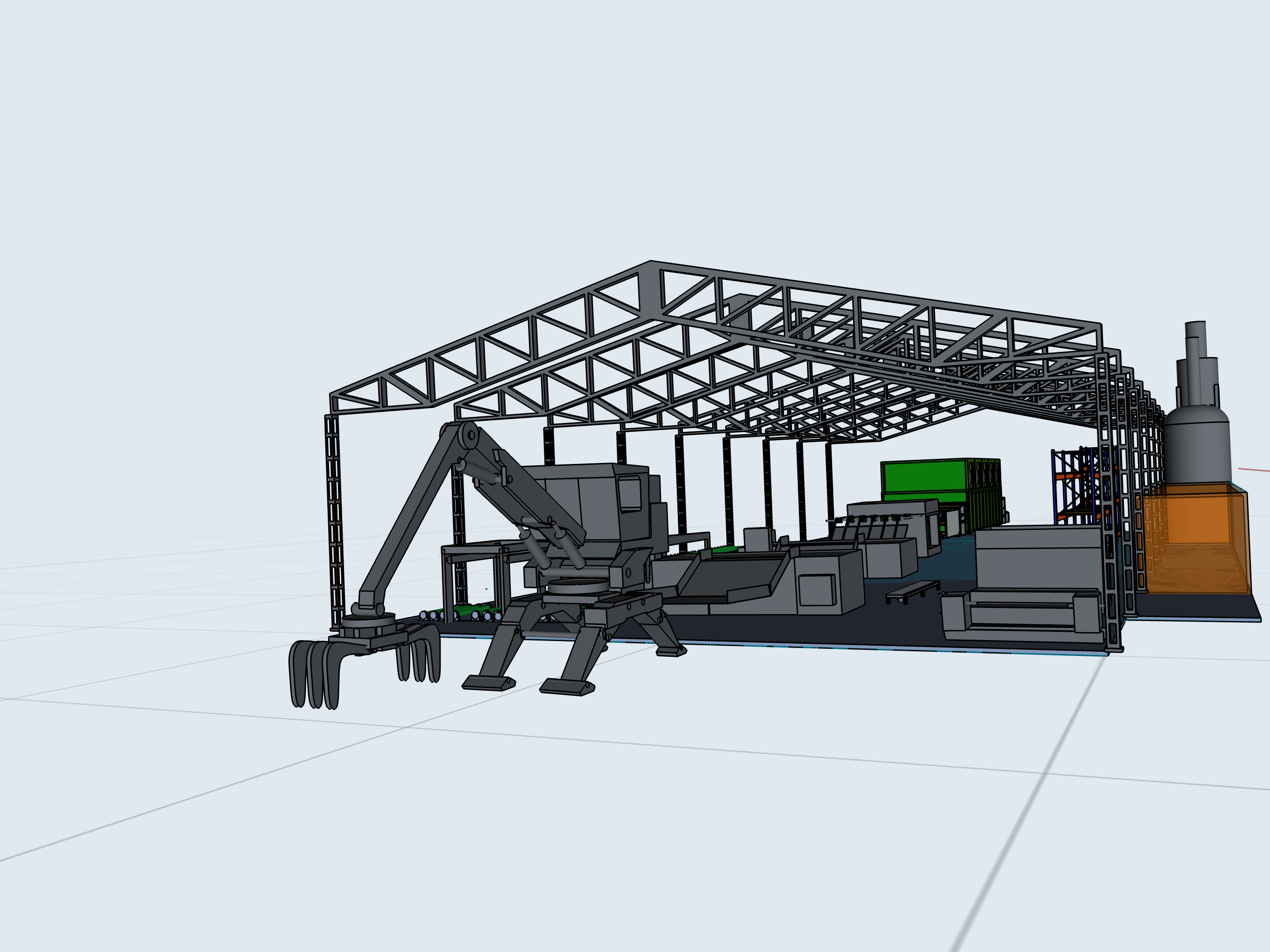 production plant layout 3d model