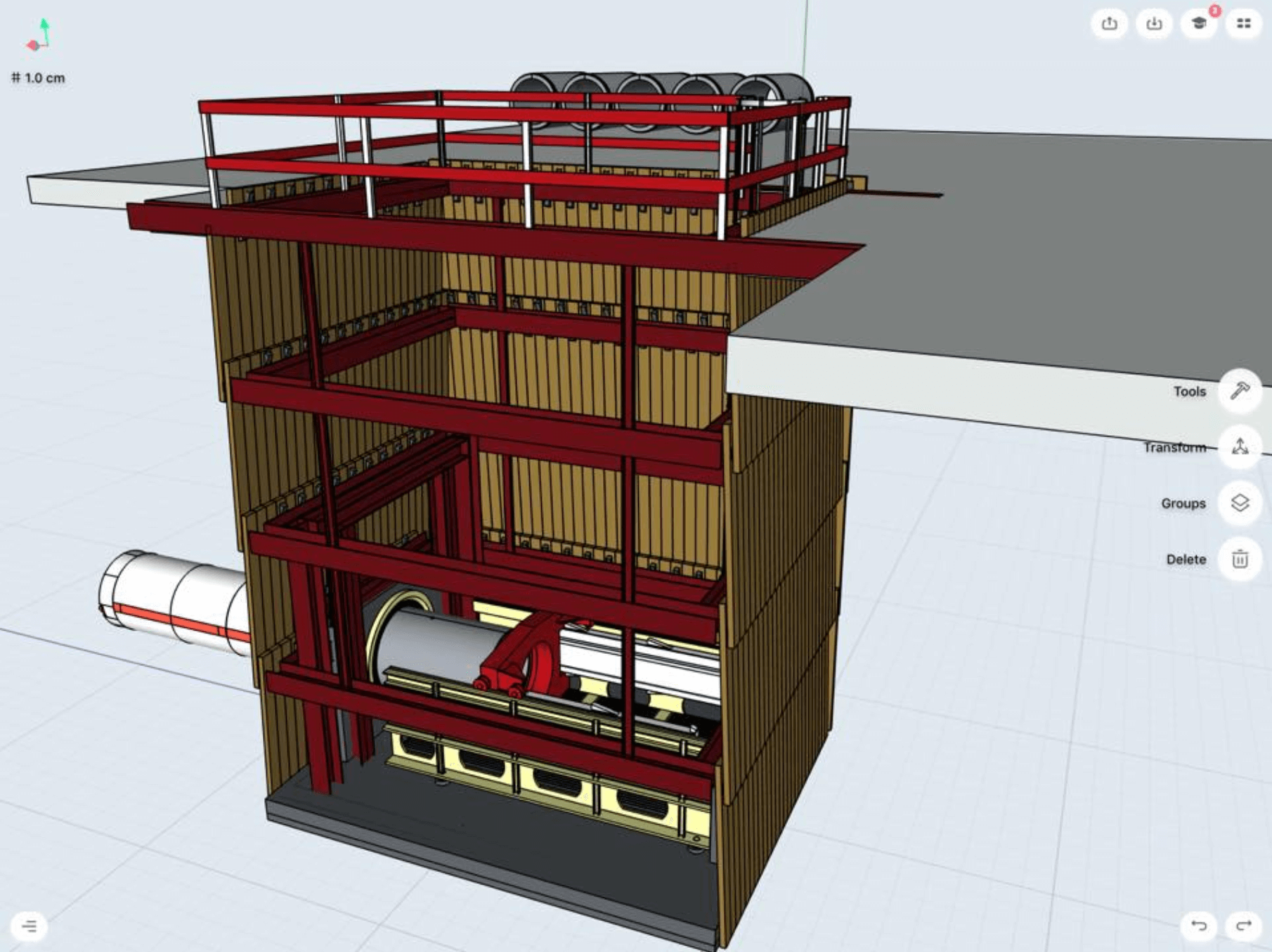 boring machine in the building 3d model