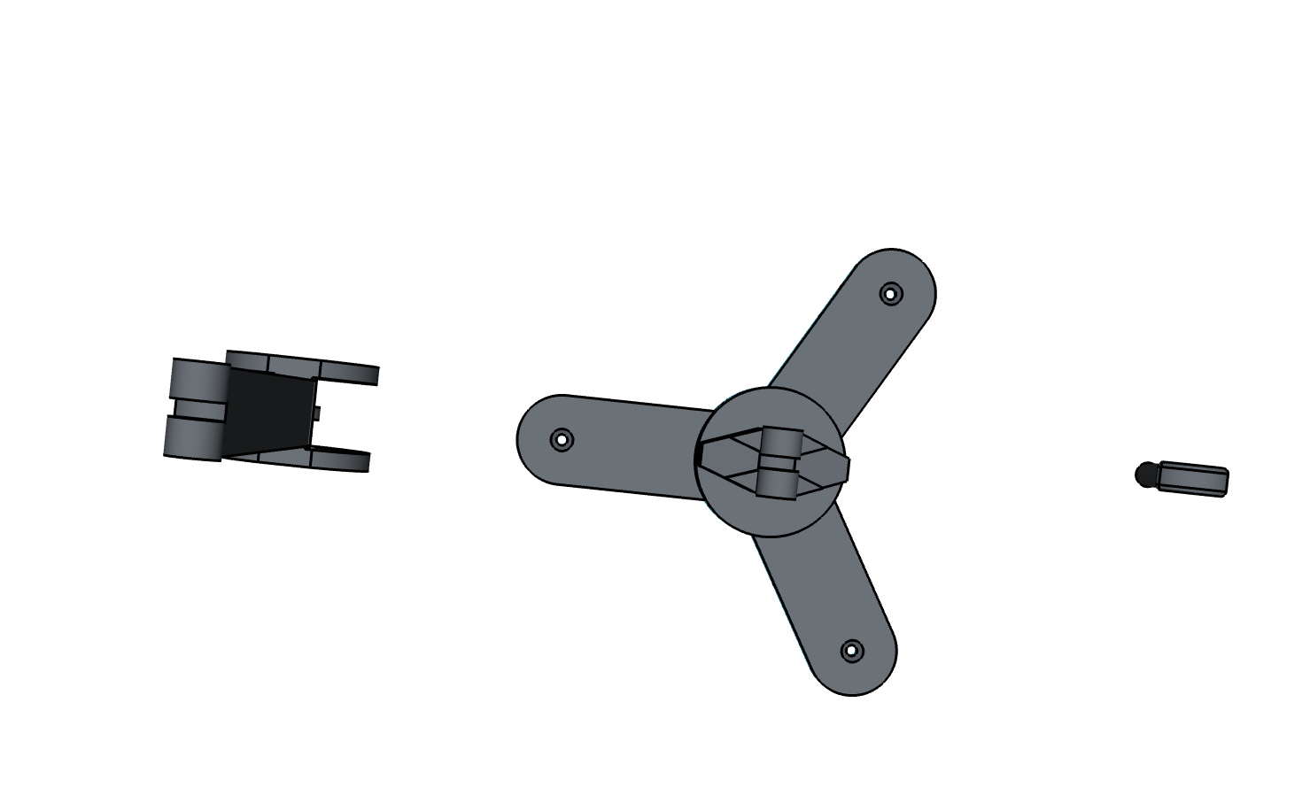 web cam holder top view 3d model